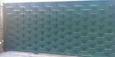 Puertas Automáticas J.C puerta de chapa verde